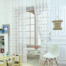 online get cheap white sheer curtain embroidery aliexpress com