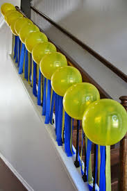 The Banister More Blue And Yellow Party Decor For A Minion Party Streamers
