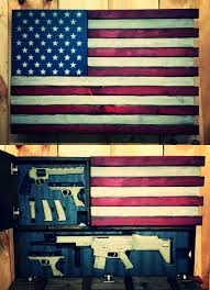 american flag gun cabinet deluxe home defense concealment flag model dual handgu on custom
