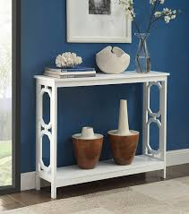 convenience concepts console table amazon com convenience concepts omega console table white kitchen