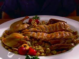 roast duck with oyster dressing recipe alton brown food network