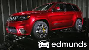 first jeep grand cherokee 2018 jeep grand cherokee trackhawk first look review youtube
