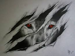 cool wolf wolf ripping outta skin drawings search