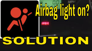 how to reset clear the airbag air bag control module light on