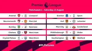 Jadwal Liga Inggris Ini Dia Jadwal Liga Inggris 2016 2017 Let S Learn Together To