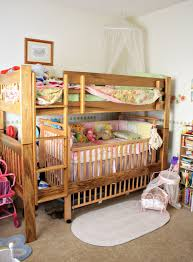 fancy bunk bed with crib on bottom 23 in decor inspiration with