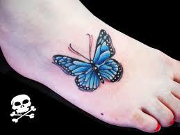 blue butterfly on tattooshunt com