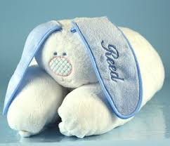 boys snuggle bunny personalized baby blanket unique baby gifts