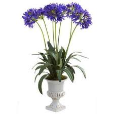 Artificial Lilies In Vase Purple Nearly Natural Artificial Flowers Artificial Plants