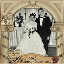 wedding scrapbooks 50th wedding anniversary digital scrapbooking at scrapbook flair