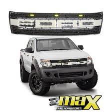 Ford Raptor Ranger - ford ranger t6 12 on raptor style mesh grille with led u0026 light