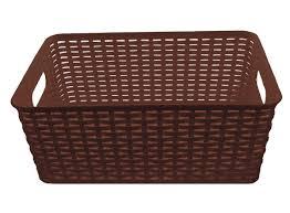 plastic rattan storage box basket organizer medium ba425