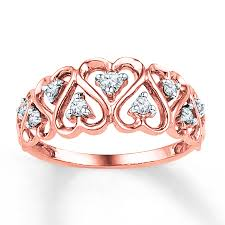 kay jewelery rose gold ring kay jewelers