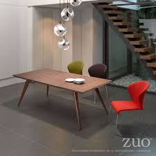 stockholm natural finish dining table best zuo era fillmore dining table in distressed natural finish