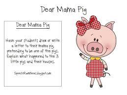 pigs preschool book companion speech room