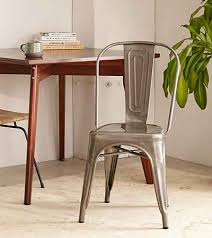 Metal Bistro Chairs Industrial Farmhouse Style Chairs On A Budget