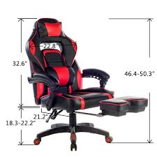Video Game Chairs With Speakers Amazon Com Merax Racing Office Chair Red And Black Pu Leather