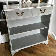 White Distressed Bookcase by Old Mahogany Bookcase Painted In Annie Sloan Paris Grey And Old