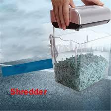 broyeur papier bureau 004cc mini électrique déchiqueteuse 4 5l tambour capacité papier