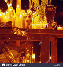 candlelight garden party dining table with many different types of