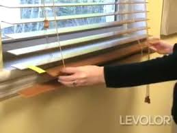 How To Measure For Faux Wood Blinds How To Shorten Blinds Video Levolor Wood And Faux Wood Blinds