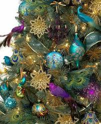 ornaments regal peacock tree theme