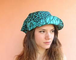 fuchsia visor sun hat head scarf ankara scarf hair scarf