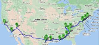 san francisco map of usa how to plan a usa megatrip on megabus