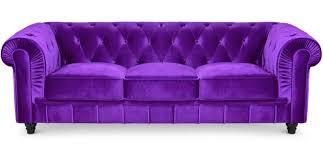 canapé chesterfield violet canapé chesterfield 3 places velours violet lestendances fr