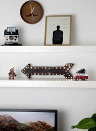 arrow of light decorations diy led light arrow for home decor shelterness