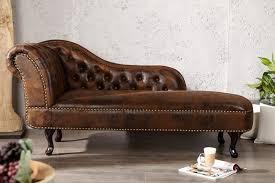 wohnzimmer liege chesterfield recamiere chaiselongue antikbraun aus dem hause