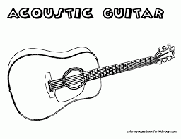 guitar coloring page fablesfromthefriends com