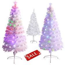 white christmas tree with multicolor lights pre lit christmas trees zeppy io