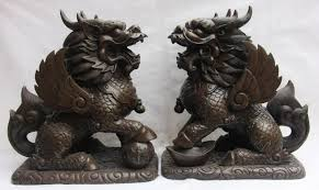 qilin statue 15 copper bronze wealth fly kylin chi qilin foo dog