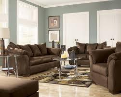 Ashley Living Room Furniture Darcy Mocha Sofa Set