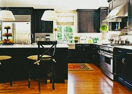Kitchen Refacing Ideas Kitchen Custom Black Cabinets Eiforces