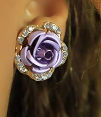 store stud earrings rhinestone stud earrings purple of culture online