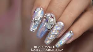 holographic unicorn nails with daily charme products april ryan