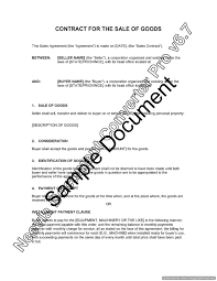 sample sale of goods contract billing format in word microsoft