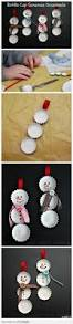 diy bottle cap snowmen ornaments xmas crafts pinterest diy