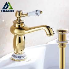 Faucets Wholesale Discount Chrome Gold Bathroom Faucets 2017 Bathroom Faucets Gold