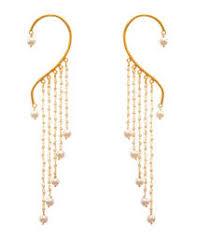 Buy Designer Gold Plated Golden Buy Golden Gold Plated Pearl Ear Cuffs Ear Cuff Online Ear Cuffs