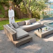 canapé jardin résine salon exterieur en resine meuble de jardin teck maisondours