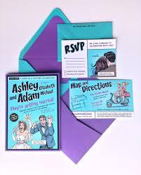 Wedding Invitation Pocket Envelopes Custom Comic Book Wedding Invitation Kit Invitation Pocket