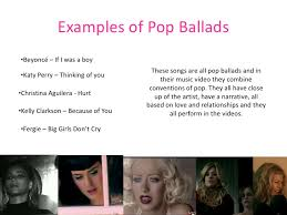 pop and ballad music