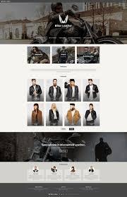 leather apparel bikers website template