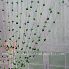 2016 new style factory wholesale green round acrylis beaded door