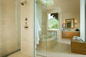 Neutral Colored Bathrooms - bathroom neutral colors bathroom eclectic with pebble tile shower