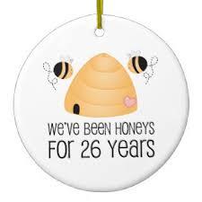 26th wedding anniversary 26th wedding anniversary ornaments keepsake ornaments zazzle