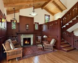 santa barbara mission style fireplace living room craftsman with